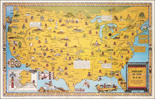 United States and Pictorial Maps Map By Louise E. Jefferson