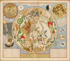 Celestial Maps Map By Johannes Covens  &  Cornelis Mortier
