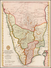 India Map By Jean-Baptiste Bourguignon d'Anville