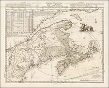 New England and Canada Map By Georges Louis Le Rouge