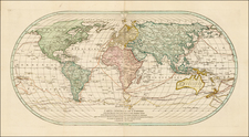 World, World, Hawaii, Pacific and Hawaii Map By Mathais Albrecht Lotter