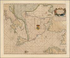Polar Maps, New England and Canada Map By John Thornton