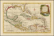 Florida and Caribbean Map By Thomas Bowen