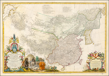 China, Korea and Central Asia & Caucasus Map By Jean André Dezauche / Jean-Baptiste Bourguignon d'Anville