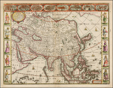 Asia and Asia Map By John Speed