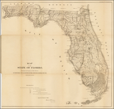 Florida Map By U.S. General Land Office