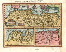 Europe, Mediterranean, Africa and North Africa Map By Jodocus Hondius / Samuel Purchas
