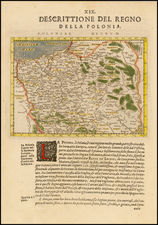 Poland Map By Giovanni Antonio Magini