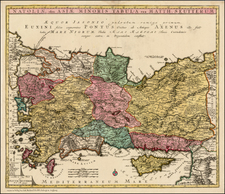 Greece, Turkey, Balearic Islands and Turkey & Asia Minor Map By Johann Michael Probst