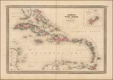 Caribbean Map By Alvin Jewett Johnson