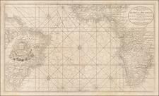 Atlantic Ocean, South America, Africa and West Africa Map By Gerard Van Keulen