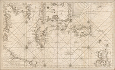 Atlantic Ocean and Canada Map By Johannes II Van Keulen