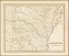 South and Arkansas Map By Thomas Gamaliel Bradford