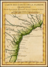 Southeast Map By Jacques Nicolas Bellin