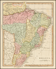 Brazil Map By Hamilton, Adams & Co.
