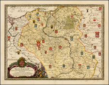 Poland and Baltic Countries Map By Samuel Pufendorf