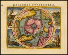 Polar Maps Map By Petrus Bertius