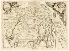 India & Sri Lanka and Central Asia & Caucasus Map By Vincenzo Maria Coronelli
