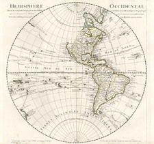 Western Hemisphere, South America, Pacific and America Map By Guillaume De L'Isle
