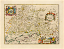 Russia and Ukraine Map By Johannes Blaeu