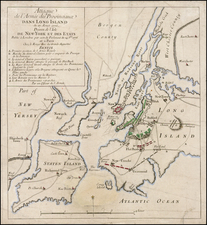New York City and Mid-Atlantic Map By Georges Louis Le Rouge