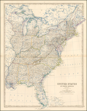 United States Map By W. & A.K. Johnston