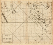 India, Southeast Asia and Malaysia Map By John Senex / Edmund Halley / Nathaniel Cutler