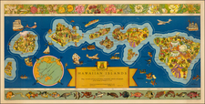 Hawaii and Hawaii Map By Hawaiian Pineapple Company