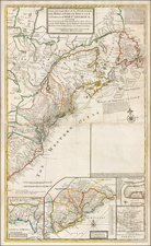 United States, New England, Mid-Atlantic and Southeast Map By George Grierson