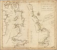 England Map By John Senex / Edmund Halley / Nathaniel Cutler