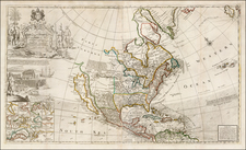 North America Map By George Grierson