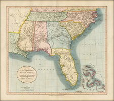 Florida, South and Southeast Map By John Cary