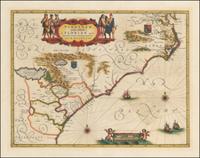 Southeast, Virginia and North Carolina Map By Jan Jansson