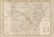 South and Arkansas Map By George F. Cram