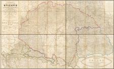 Austria, Hungary, Romania, Czech Republic & Slovakia, Balkans and Croatia & Slovenia Map By Edmund von Zuccheri
