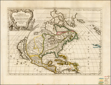 North America Map By Giacomo Giovanni Rossi