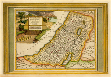 Holy Land Map By Pieter van der Aa
