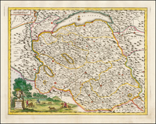 France and Northern Italy Map By Giambattista Albrizzi