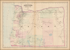 Oregon Map By Asher  &  Adams