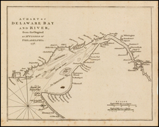 Mid-Atlantic and Delaware Map By Gentleman's Magazine