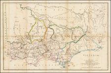 Australia Map By Smith, Elder & Co.