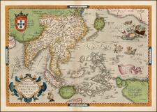 Southeast Asia, Philippines, Australia & Oceania, Australia and Oceania Map By Abraham Ortelius