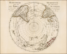 Southern Hemisphere, Polar Maps, Australia and New Zealand Map By Guillaume De L'Isle