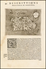 Italy, Balearic Islands and Sardinia Map By Tomasso Porcacchi