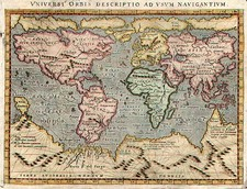 World and World Map By Giovanni Antonio Magini