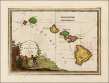 Hawaii and Hawaii Map By Giovanni Maria Cassini