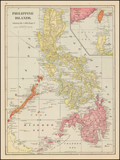 Philippines Map By George F. Cram