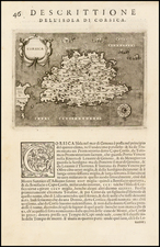 France and Corsica Map By Tomasso Porcacchi