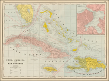 Caribbean and Cuba Map By George F. Cram