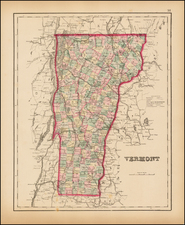 New England and Vermont Map By O.W. Gray